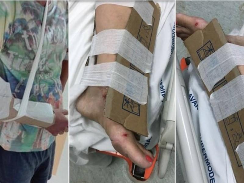 Reggio Calabria, mancano gessi e tutori in ospedale: pazienti medicati con i cartoni